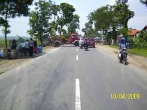 Lokasi Kecelakaan di jl. Umum ds Karanggedang km 10 Kec. Sruweng Kab. Kebumen